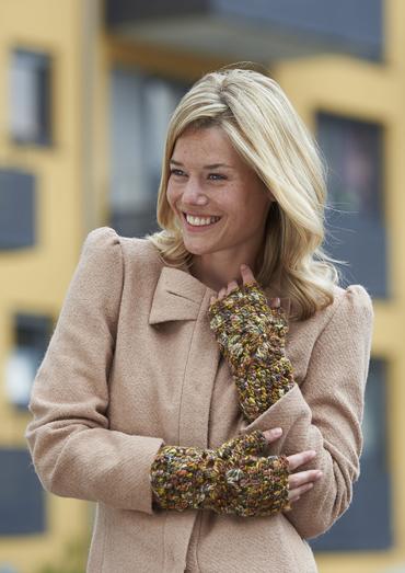 Handstulpen mit Granny Square Free Crochet Pattern