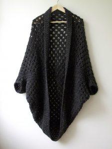 Granny cocoon shrug free easy shawl pattern