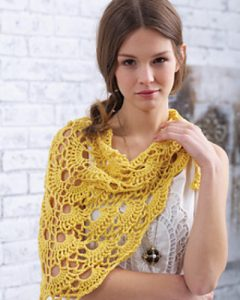Yes Yes Shawl free easy shawl crochet pattern
